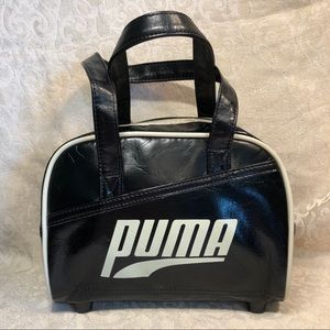 VTG Puma Logo Mini Bowler Handbag Bag Tote